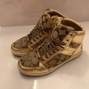 Coach Norra Gold High Top Shoes